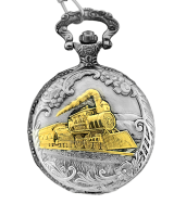 9100-SG  Train Pocket Watch